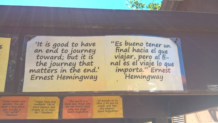 Hemingway quote on travel