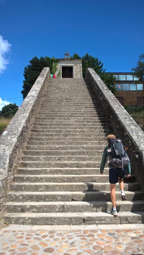 Stairs into Portomarín